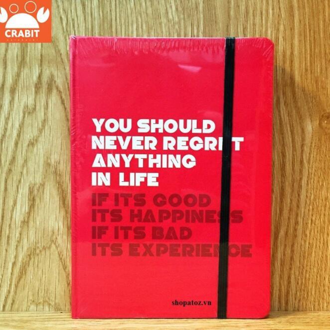 Sổ tay ruột Dot Crabit Notebuck - Quote đỏ