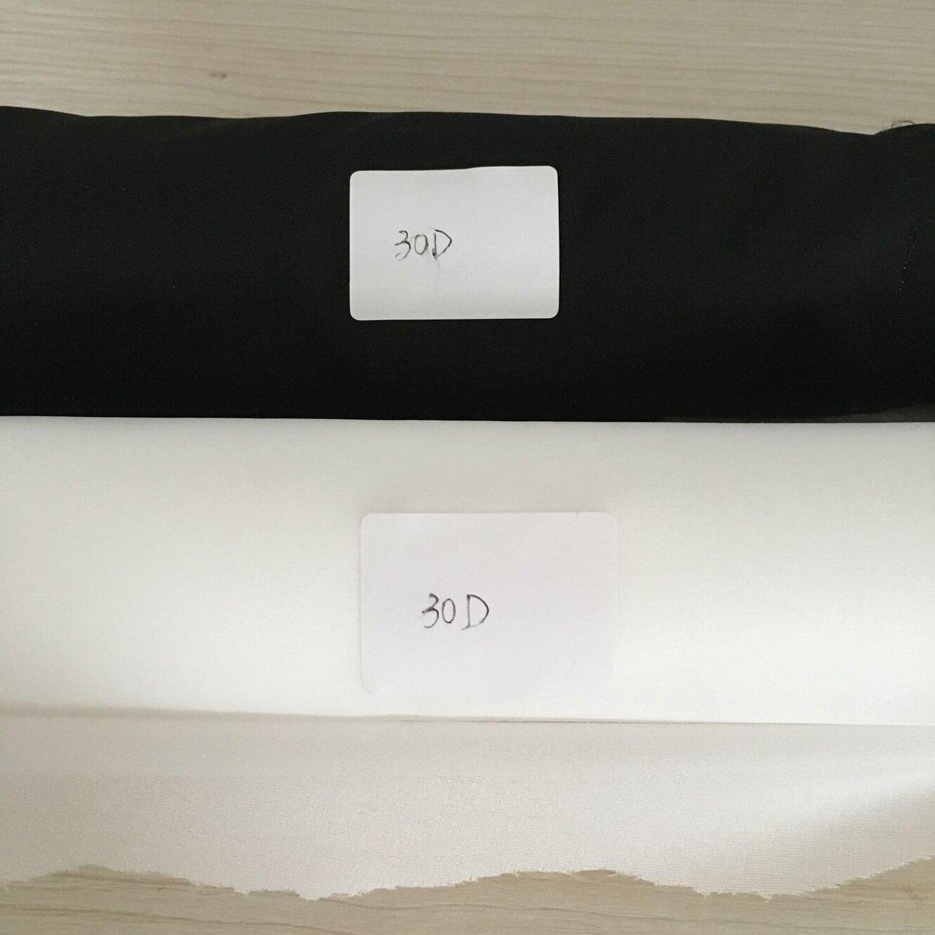 GAOXIN Vải lót Trực tiếp đan xen hai điểm màu đen Bán buôn với lớp lót co giãn