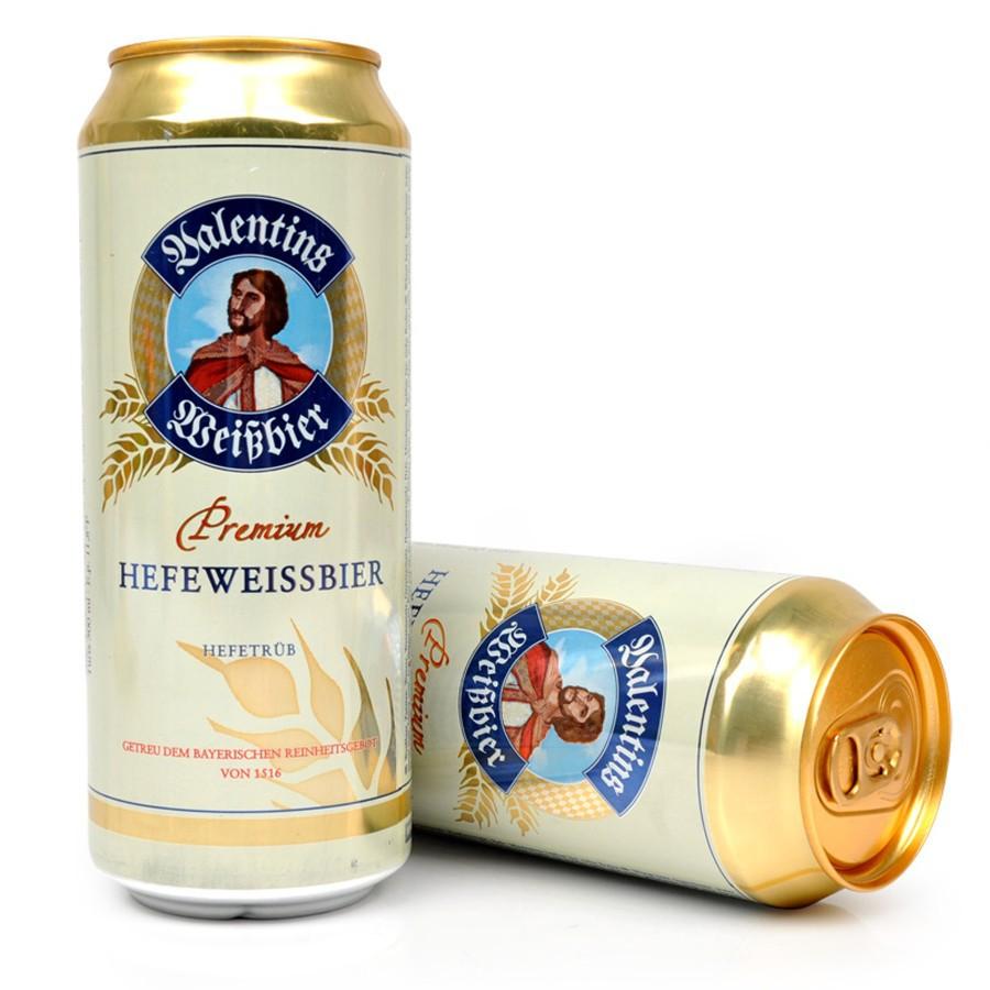 Valentin NLSX bia Bia trắng nhập khẩu Đức Bia Espresso nguyên chất Lúa mì trắng 500ml * 24 Nghe Hiệp