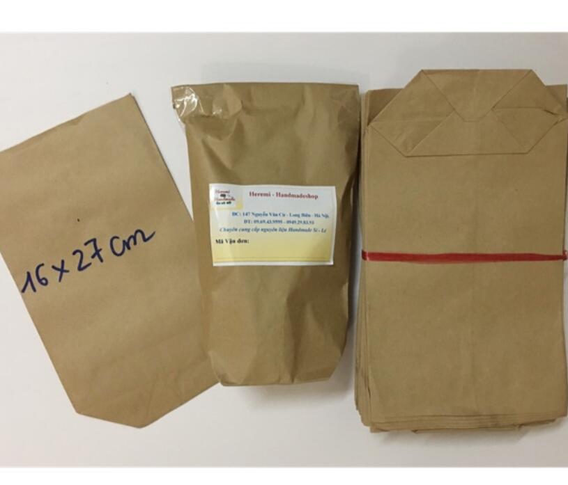 Túi Giấy Xi Măng Size 16x27cm (10-50 Túi)