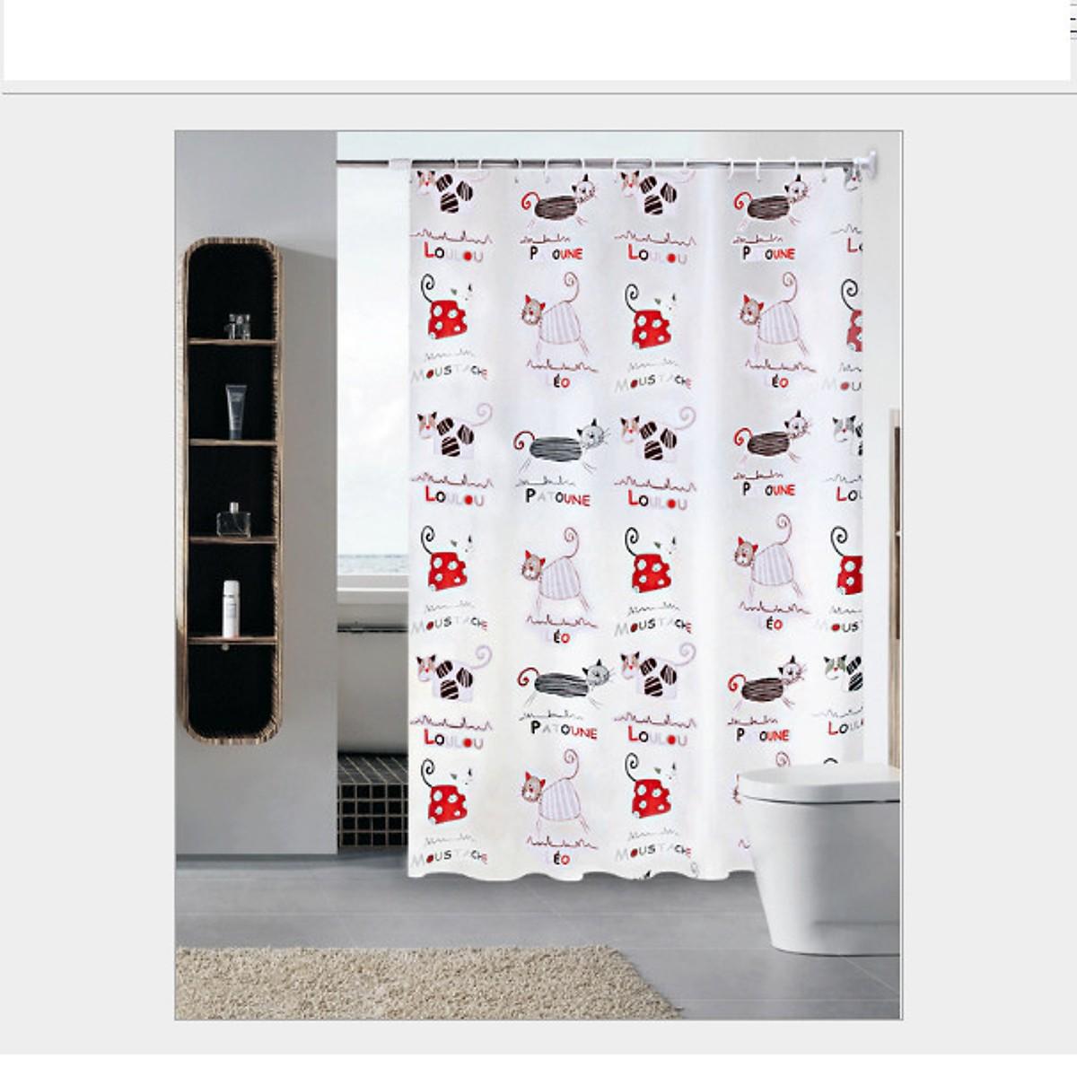 Rèm Phòng Tắm / Rèm Cửa Sổ Mèo Chữ 180cm X 180cm Loại 1