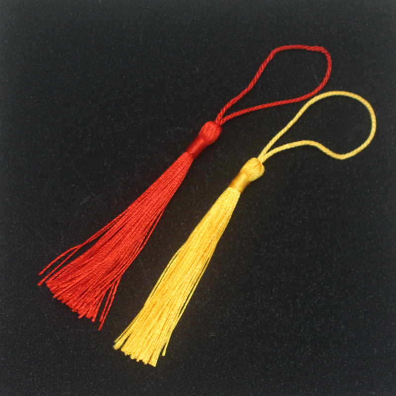 JIAWEN sợi tua 90 lụa mới thẳng đứng tua đỏ gói kẹo hộp đánh dấu nhà máy tua trực tiếp nhỏ treo tai