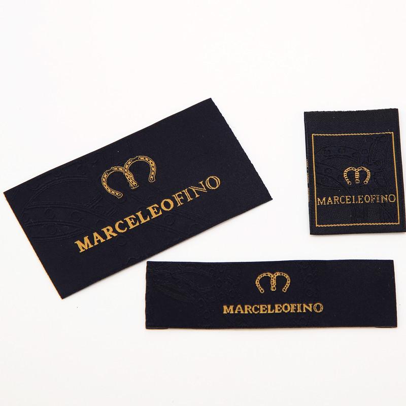 tem mạc , logo Nhà sản xuất quần áo tùy chỉnh nhà dệt cổ áo dệt nước rửa dấu logo trang trí mánh lới