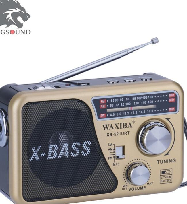 Máy Radio ĐÀI RADIO USB NGHE NHẠC WAXIBA XB-521URT-Tặng pin