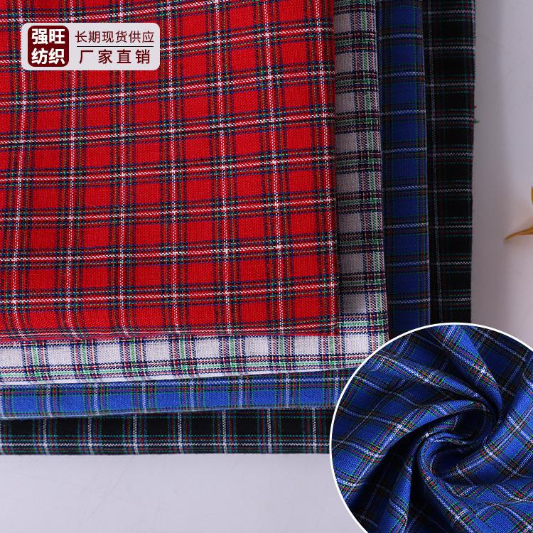 QIANGWANG Vải Yarn dyed / Vải thun có hoa văn Chất liệu cotton polyester dệt trơn 112gsm sợi kẻ sọc