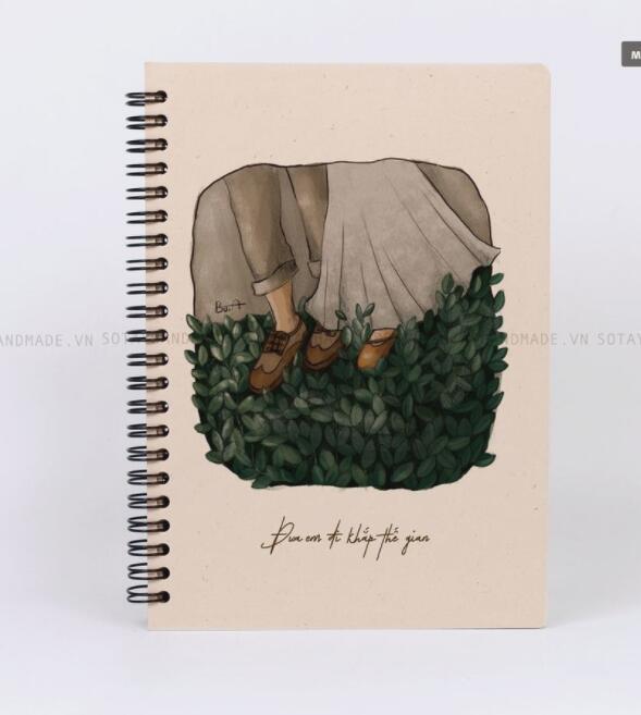 Sổ tay ƯA EM ĐI KHẮP THẾ GIAN - Sổ tay bìa cứng - A5 - 047