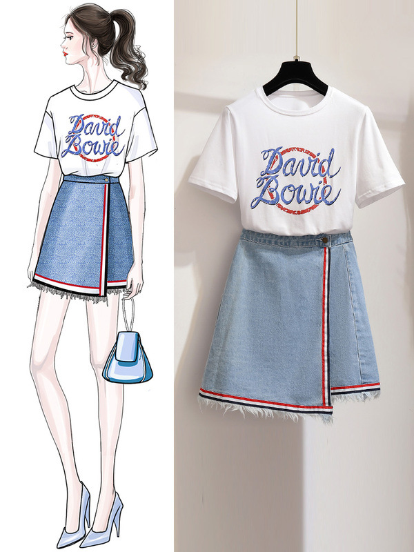 Váy hè 2019 phổ biến váy nữ mới áo thun platycodon học sinh rất cổ tích Pháp phù hợp với nữ