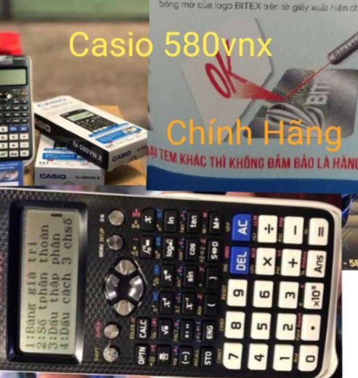 Máy Tính Casio FX 580VNX Hàng Chính Hãng Bảo Hành 2 Năm Casio #580vnx> ( Hoàn 200% Nếu Phát Hiện