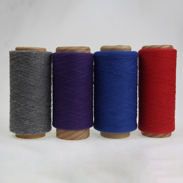 NANYANG Sợi dệt Nhà máy trực tiếp 8 ~ 21 màu sắc khác nhau của sợi cotton tái chế đan sợi hóa học sợ