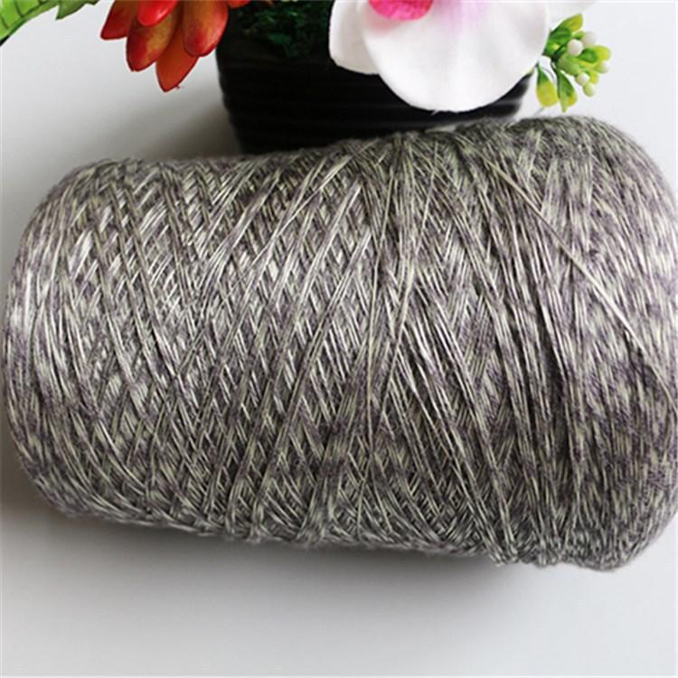 Sợi gai Lụa tơ tằm 90% lanh 10% sợi dạ quang 2 / 24NM sợi lanh nguyên chất sợi lanh dạ quang sợi lan