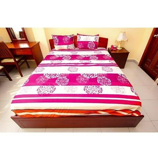 Bộ drap giường Kachi 1.6x2m - Giao màu ngẫu nhiên