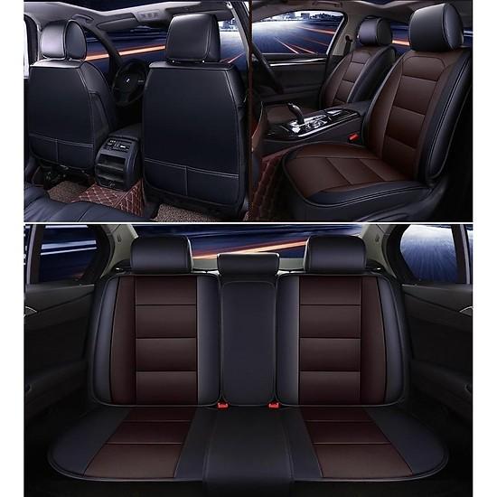 Bộ áo ghế DA ô tô bản CAO CẤP cho 5 chỗ ngồi A60 - Gồm 2 gối tựa LƯNG + 2 gối tựa ĐẦU ghế xe hơi đẳn