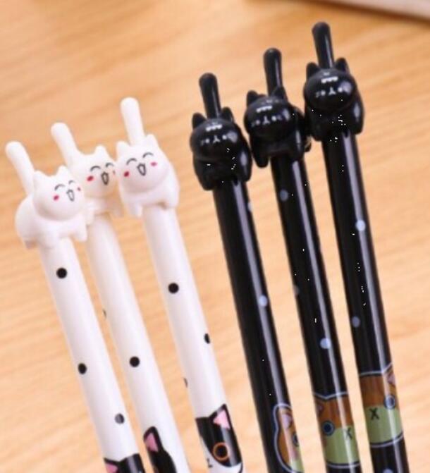 Bút nước Bút mèo đứng trắng đen mực nước còn đen