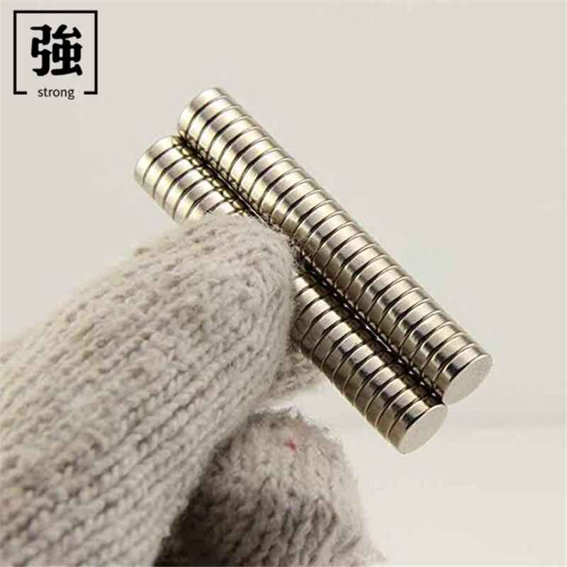 HAORUI Sắt từ Nam châm vĩnh cửu NdFeB D6X3mm tròn từ tính mạnh Nam châm thép mảnh từ tính 6 * 3 đĩa