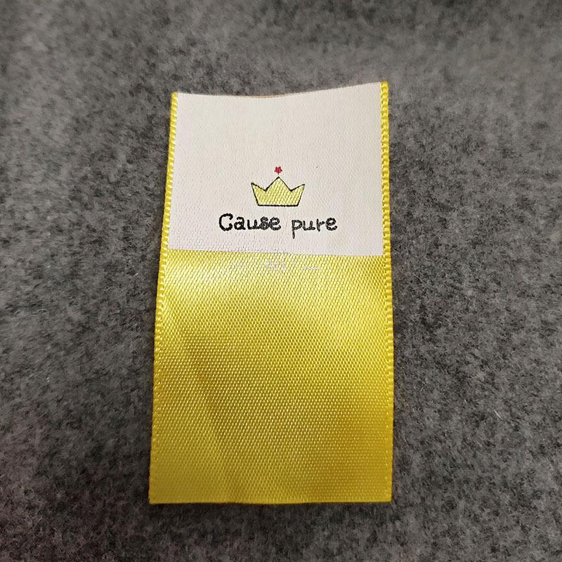 DECHUANG Dệt cổ áo quần áo tùy chỉnh dệt thêu chính label nhãn phụ tùy chỉnh tiêu chuẩn chính nhãn r