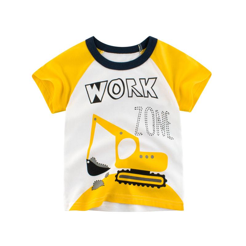 27KIDS Thị trường trang phục trẻ em Áo thun cotton tay ngắn cho bé Quần áo bé trai mùa hè bán buôn 2