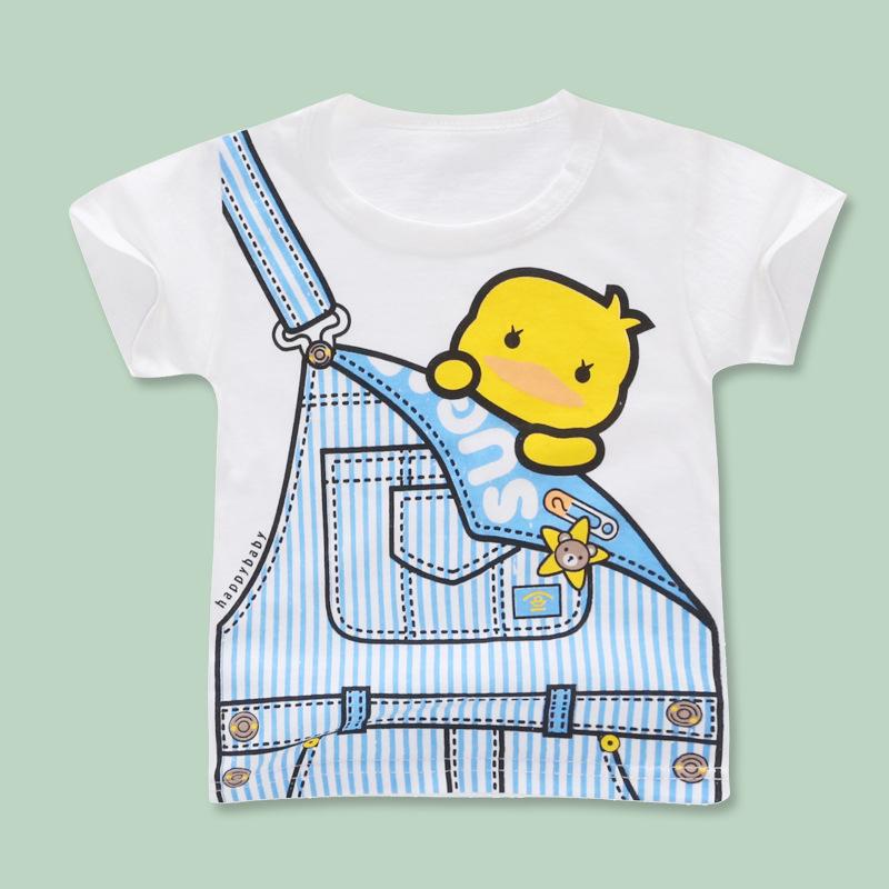 Thị trường trang phục trẻ em Một thế hệ quần áo trẻ em mới 2019 quần áo trẻ em mùa hè bán buôn cotto