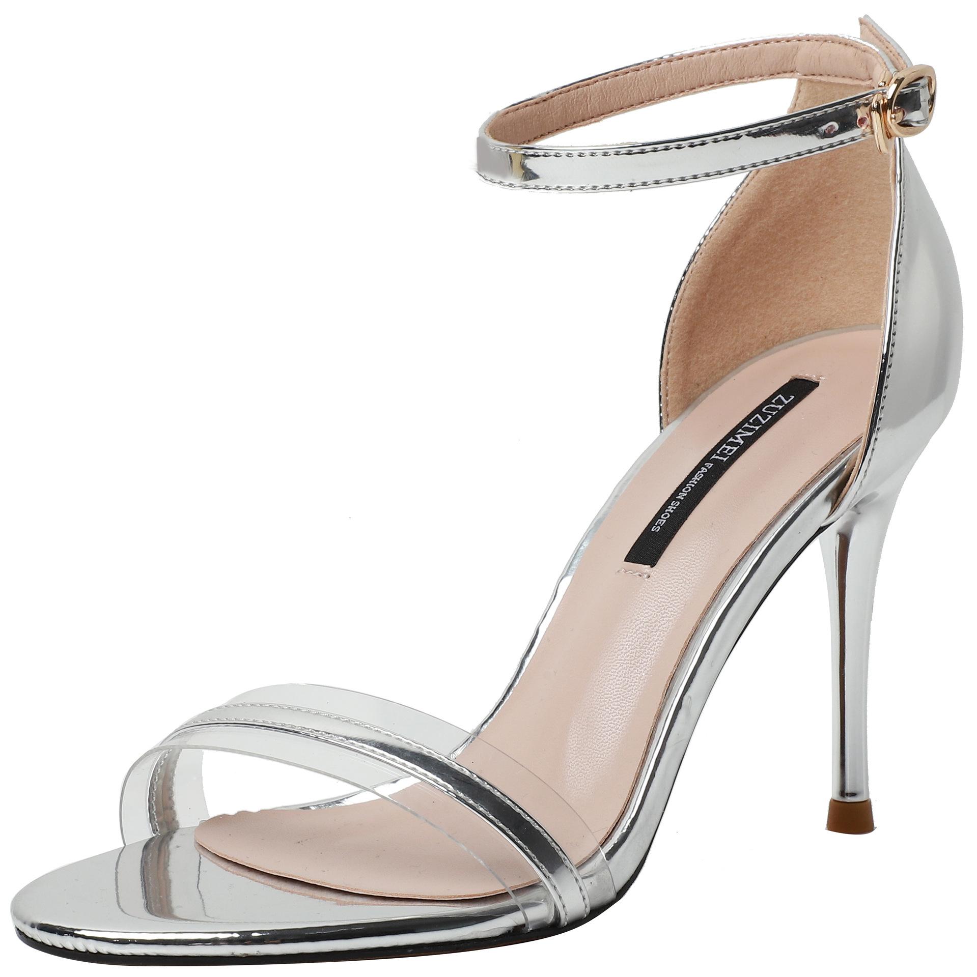 ZUZIMEI Giày nữ hàng Hot QS888-3, 3319-11 bằng sáng chế khóa da với màu sắc phù hợp với dép hở ngón