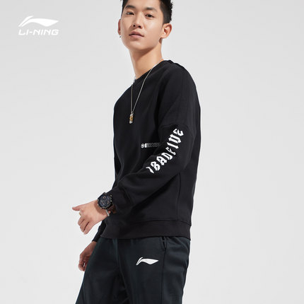 Sweater (Áo nỉ chui đầu)  Li Ning Wei quần áo nam mới BAD FIVE loạt bóng rổ áo thun cổ tròn áo thể t