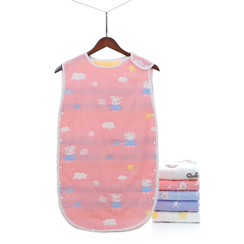 XINBAILI Túi ngủ trẻ em Nhà máy sản xuất trực tiếp cotton gạc sáu lớp túi ngủ trẻ em chống vest kiểu