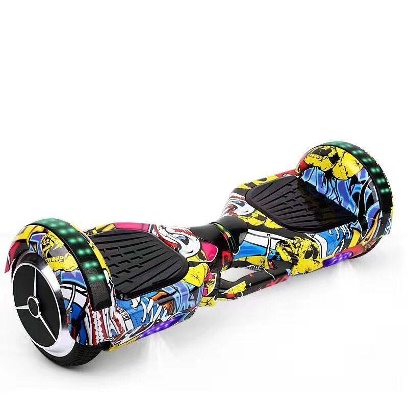 TAOSHANG Xe điện 2 bánh tự cân bằng 6,5 inch trẻ em hai bánh điện cơ thể xoắn xe người lớn suy nghĩ