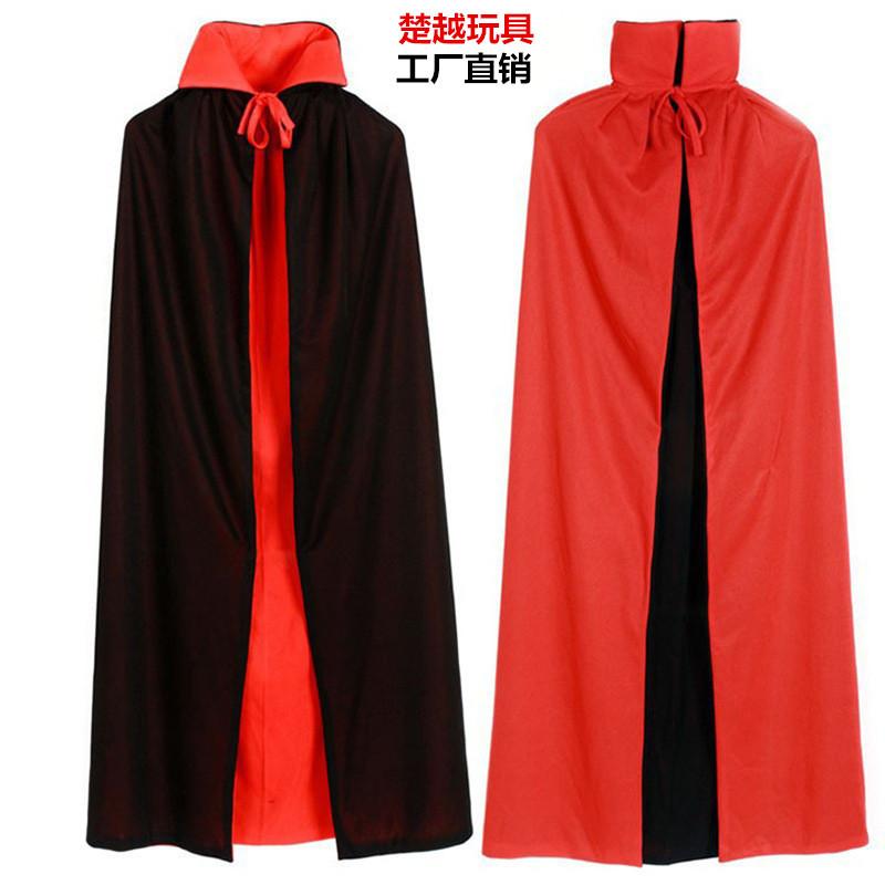 Áo choàng trẻ em Halloween áo choàng hóa trang trẻ em người lớn đôi màu đỏ và đen cướp biển chết áo