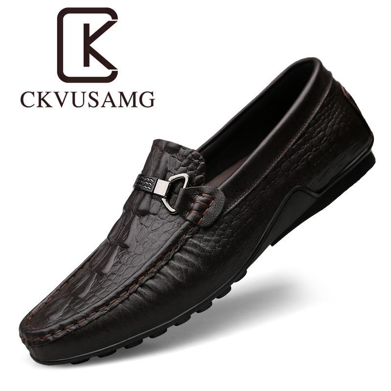 Giày mọi Gommino Mùa hè 2019 giày đậu Hà Lan mới mẫu cá sấu nam lười giày thủy triều thoáng khí mềm
