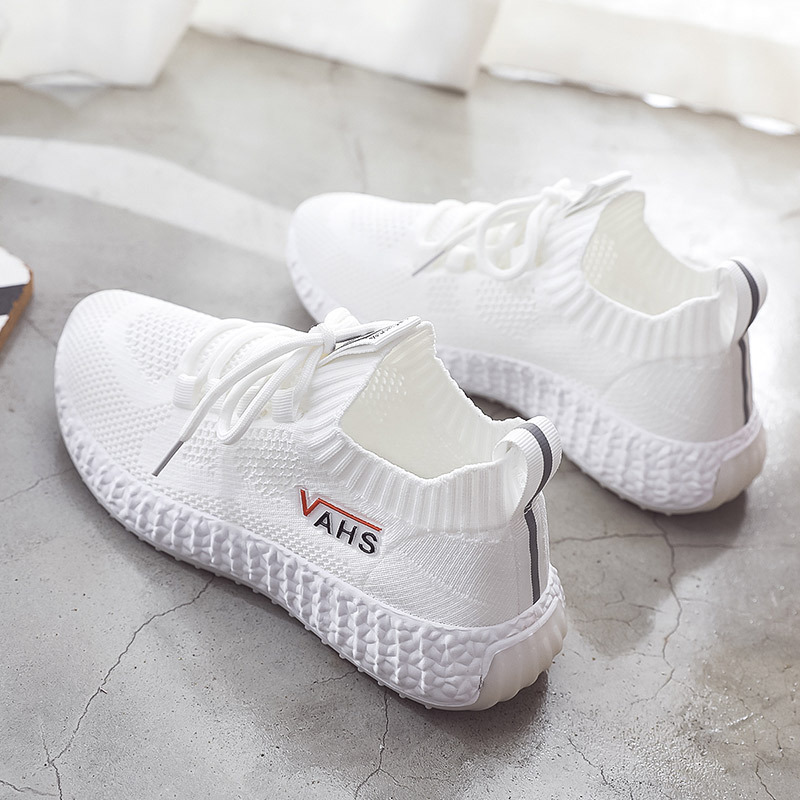 LELL 8501 giày trắng nhỏ nữ 2019 mới mùa hè giày thể thao giản dị cô gái hoang dã chạy lưới lưới tho