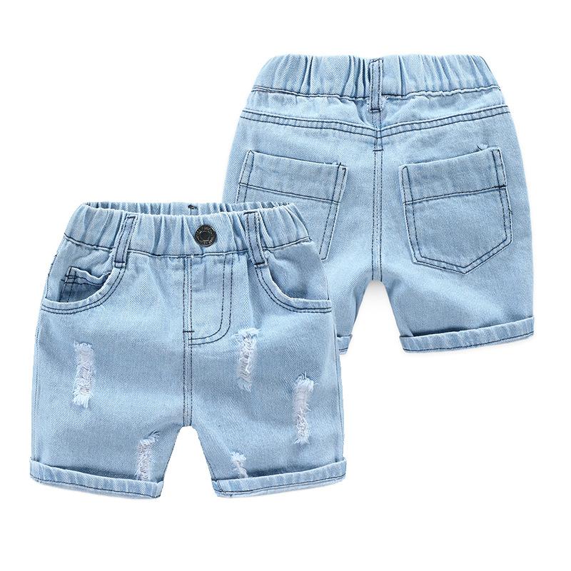 Xiailebaby Thị trường trang phục trẻ em Quần short bé trai quần lửng 2019 hè mới Hàn Quốc quần bé đi