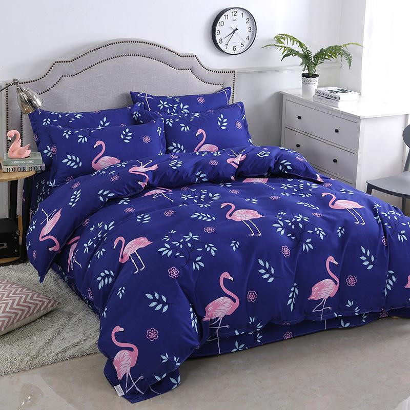Bộ Drap giường vải lanh với họa tiết dễ thương .