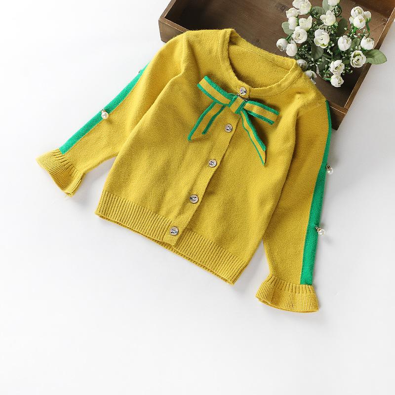 XIAOBANG Áo dệt kim trẻ em Quần áo mùa thu 2018 dành cho trẻ em bán buôn phiên bản Hàn Quốc của áo l