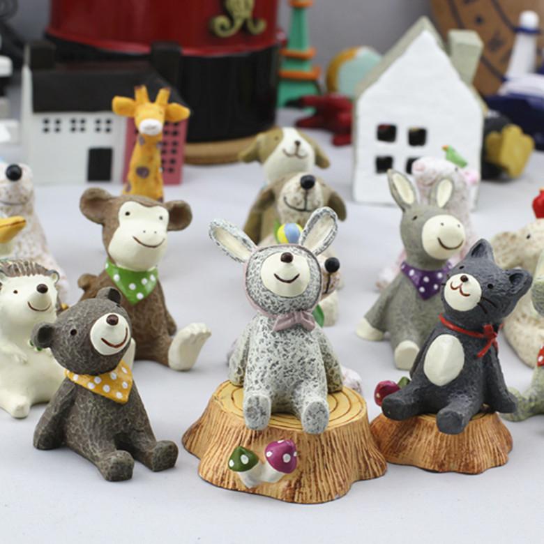 DINGYUN Cảnh quan Mini Quà tặng sáng tạo đồ trang trí nhà nhìn lên các ngôi sao động vật nhỏ vi cảnh