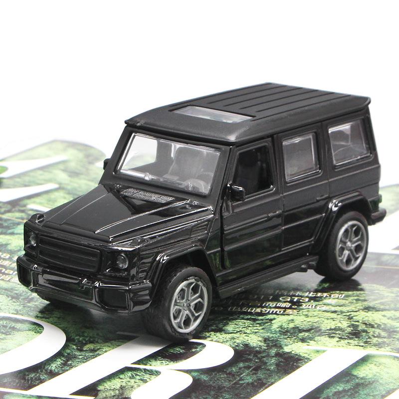 HUIXIANG Mô hình xe Nhà máy sản xuất trực tiếp mẫu xe hợp kim Mercedes-Benz G65 kéo lại đồ chơi sáng