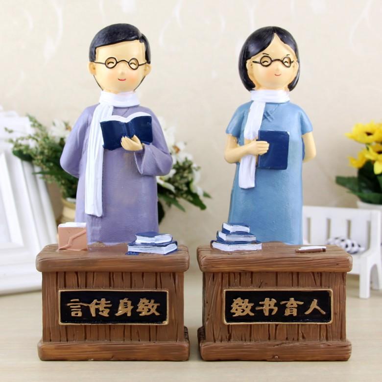 YUMO Đồ trang trí bằng cao su Ngày nhà giáo sáng tạo Quà tặng cho giáo viên Dạy ông nhựa trang trí P