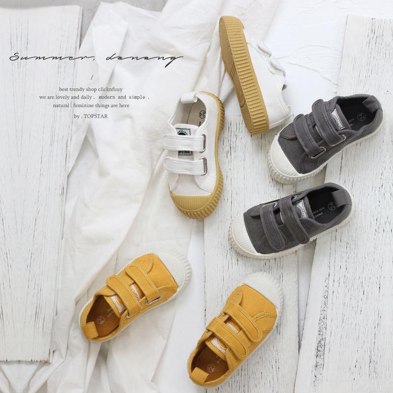 TOPSTAR Giày trẻ em Hot Giày mùa xuân trẻ em mới đích thực Giày trẻ em Hàn Quốc Giày vải bé gái Giày