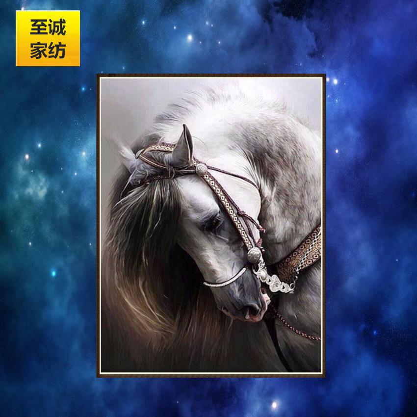 ZHICHENG Tranh thêu chữ thập Ngoại thương tự làm thủ công cross-kim cương 5d kim cương sơn ngựa phòn