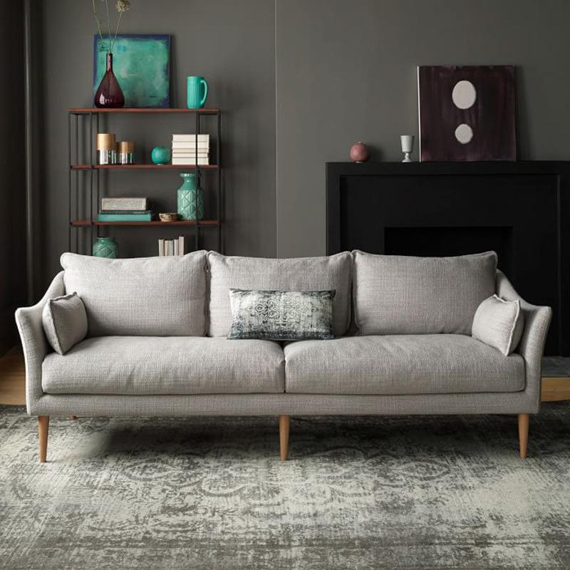 GEMEISI Nội thất Tối giản Bắc Âu sofa vải căn hộ nhỏ hiện đại latex ba người đôi căn hộ phòng khách