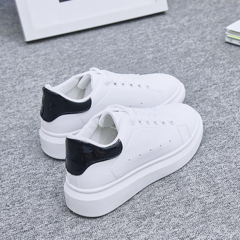 Giày trắng nữ Xuân 2019 mới nhỏ giày trắng nữ phiên bản Hàn Quốc của giày thể thao đế bệt