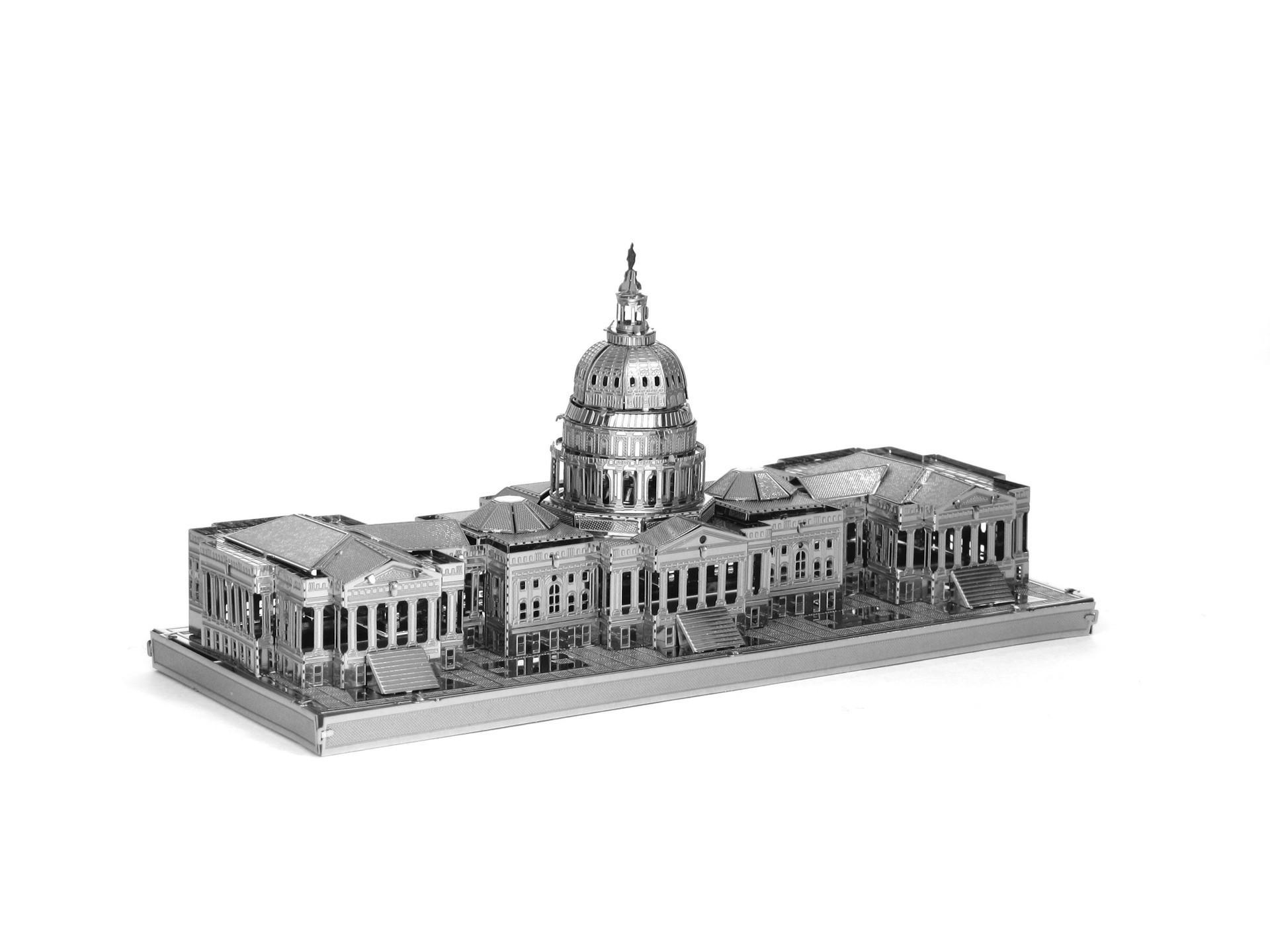 Tranh xếp hình 3D Yêu chính tả tất cả kim loại DIY lắp ráp mô hình 3D câu đố ba chiều du lịch lưu ni