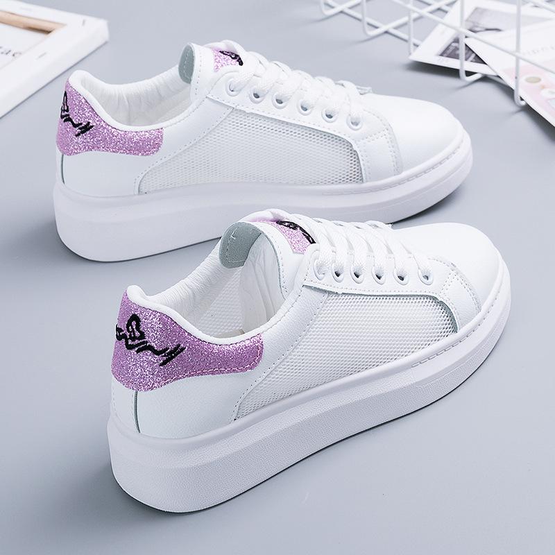 Duo Ai Wei Giày trắng nữ [Duo Ai Wei] Giày trắng thoáng khí nữ 2019 Giày lưới nữ mùa hè Học sinh phi