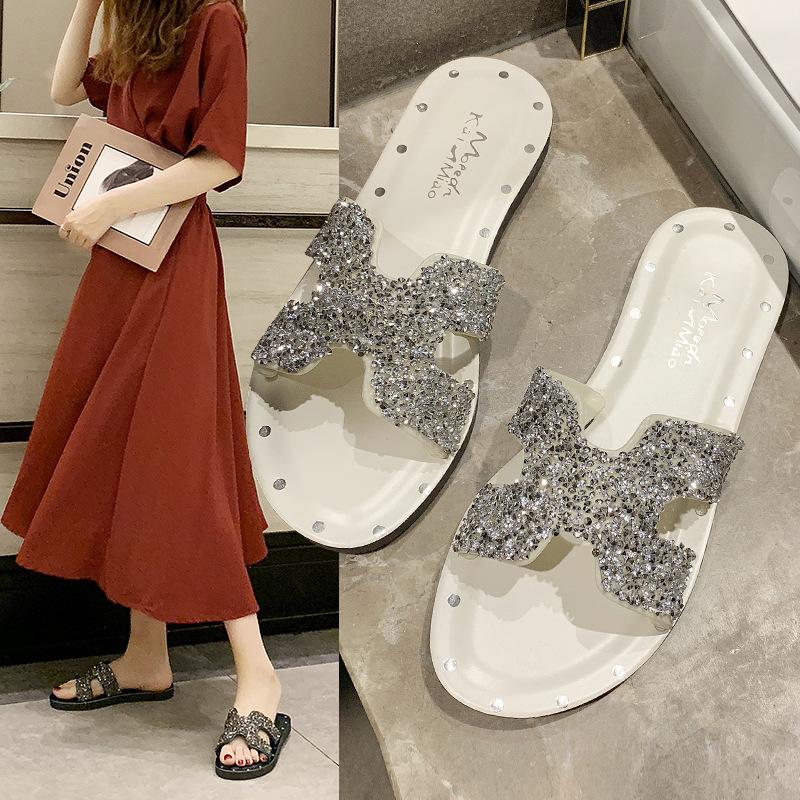 Giày nữ hàng Hot Nhà máy trực tiếp 2019 hè phong cách mới dép giản dị ngoài trời thời trang không tr