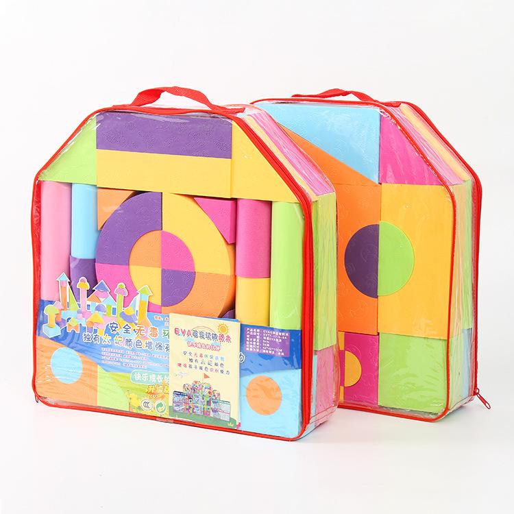 Bộ đồ chơi rút gỗ Khối xây dựng giáo dục cho trẻ em Phần mềm mẫu giáo mầm non mầm non lắp ráp đồ chơ