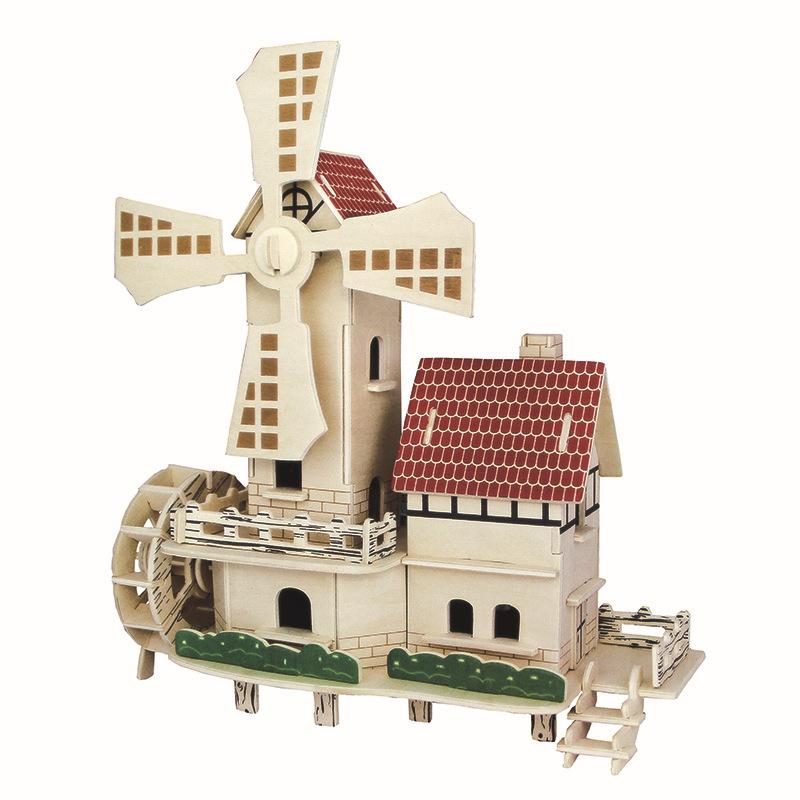 Tranh xếp hình 3D Nhà máy bán buôn mới DIY đồ chơi thủ công 3D mô hình xây dựng ba chiều câu đố Đồ c