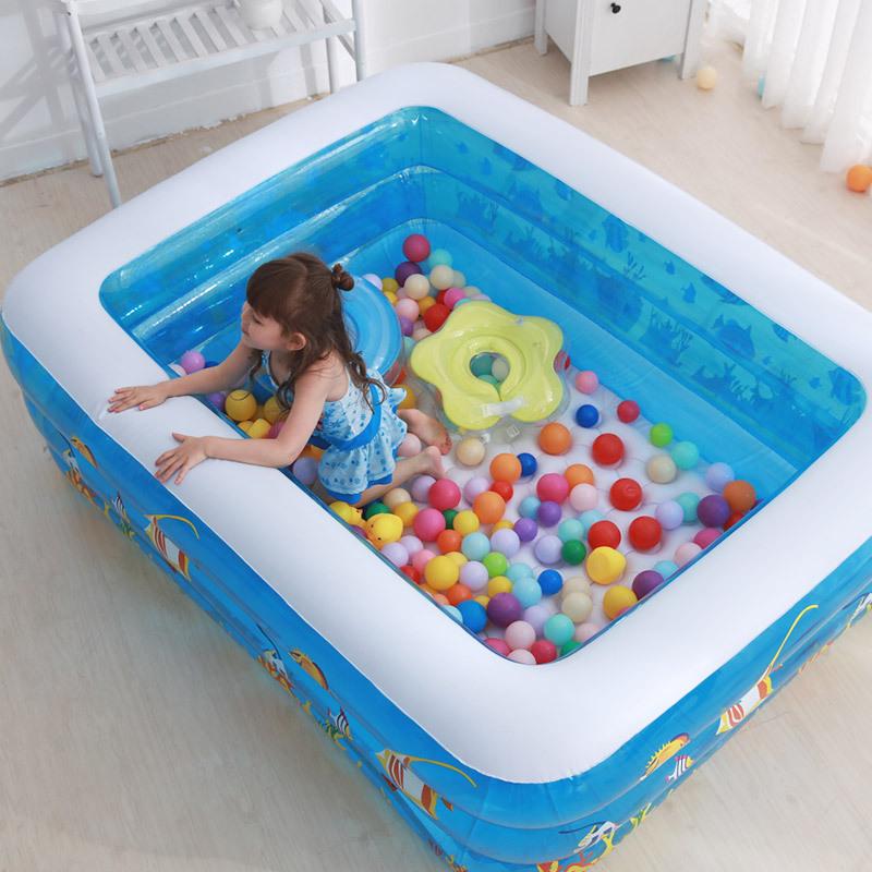 DUOMEICONG Bể bơi trẻ em bơm hơi bể bơi nước đồ chơi gia đình bé hồ bơi bơm hơi