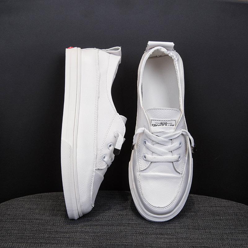 Giày trắng nữ Giày trắng nhỏ nữ 2019 xuân mới giày đế thấp để giúp giày đơn đế phẳng chống trượt