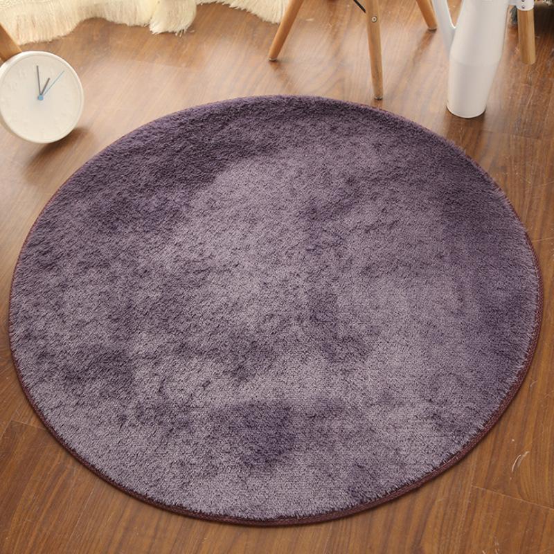 Thảm tròn lót đệm trang trí phòng .