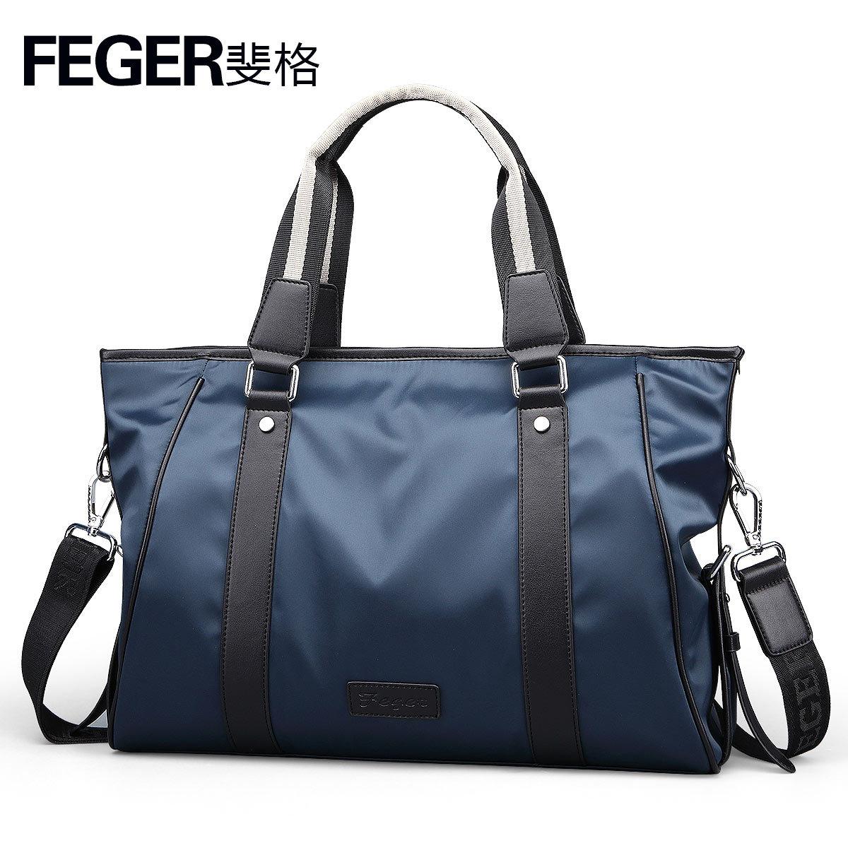 FEGER Túi xách Feige túi xách nam vali thông thường đa chức năng túi oxford nam mặt cắt ngang thời t