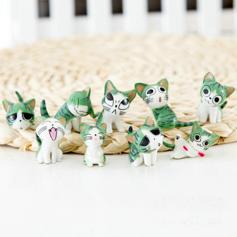 Cảnh quan Mini Rêu vi cảnh trang trí phô mai mèo búp bê tay chai sinh thái trang trí búp bê 9