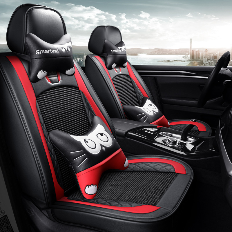RUIJIE Drap bọc ghế xe hơi Mới thay đổi màu sắc phổ quát mùa hè băng lụa xe bọc ghế xe mùa hè băng l