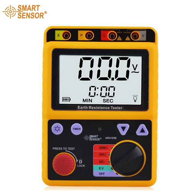 Xima AR4105B máy đo điện trở nối đất chính xác cao máy đo điện trở hiển thị kỹ thuật số đo điện áp đ
